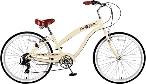 Fito Women s Modena 2.0 Aluminum Alloy 7 Speed Beach Cruiser Bike