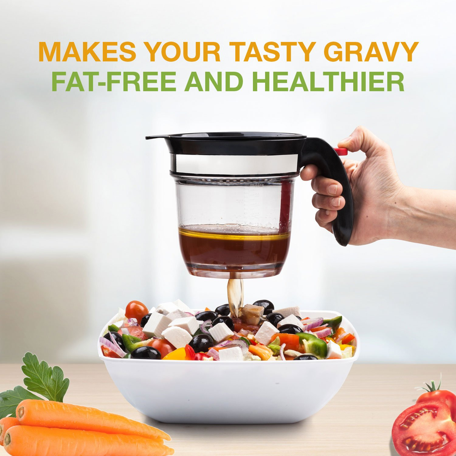 Best 4 Cups Gravy Separator And Fat Separator 32 Ounces