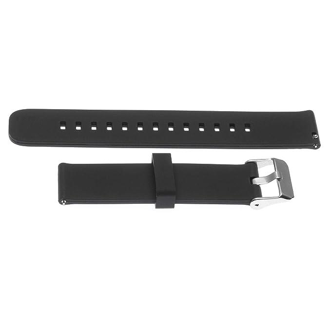 vhbw Correa de Repuesto Silicona Negra 22mm para smartwatch ...