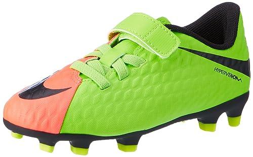 low cost 7e426 c9b3a Nike Unisex-Kinder Hypervenom Phade III (V) FG Fußballschuhe Grün (Elctrc  Green