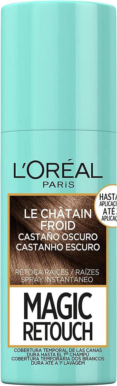 L'Oréal Paris Magic Retouch Spray Retoca Raices y Canas para Pelo Castaño Oscuro - 75 ml