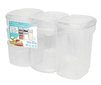 sistema klip it vorratsbehälter-set für backwaren: amazon.de ... - Vorratsbehälter Küche