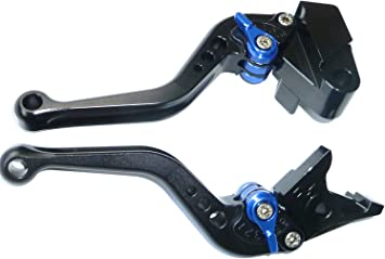 FXCNC Racing CNC Aluminum Short Adjustable Front Brake Clutch Levers for Yamaha YZF R1 2002-2003,YZF R6 1999-2004,FZ1 FAZER 2001-2005,R6S USA VERSION 2006-2009,R6S CANADA VERSION 2007-2009