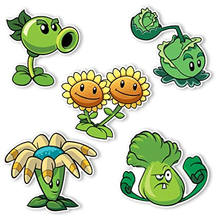 Plants vs  Zombies 2 Wall Decals: Special Plant Set 1 (Five - 4-6 inch Wall  Decals)