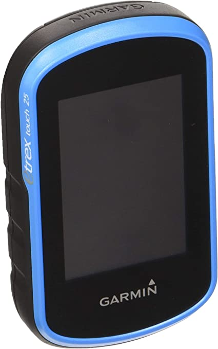 Nero//Blu Ricondizionato 8 GB 160 x 240 Pixel slot microSD Garmin eTrex Touch 25 GPS Portatile Mappa TopoActive Europa Occidentale Schermo 2.6