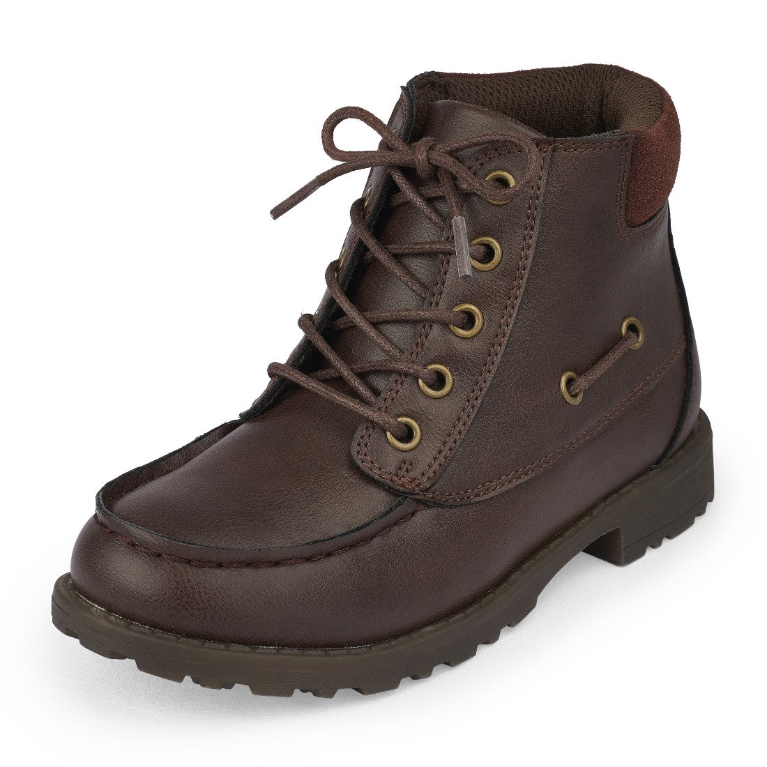 The Children's Place Boys' Ankle Boot, Brown-Boot, Youth 12 M US Little Kid