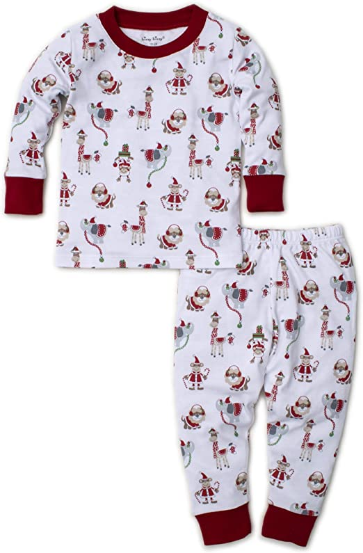 Kissy Kissy Unisex-Baby Infant Jungle Christmas Print Footie with Zipper