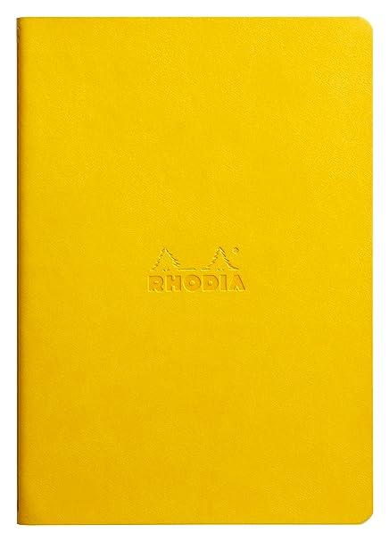 amazon com rhodia sewn spine 8 4x6 dot grid notebook yellow arts