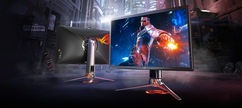 Asus ROG Swift PG27UQ 27 Gaming Monitor 4K UHD 144Hz DP HDMI G-SYNC HDR Aura Sync with Eye Care