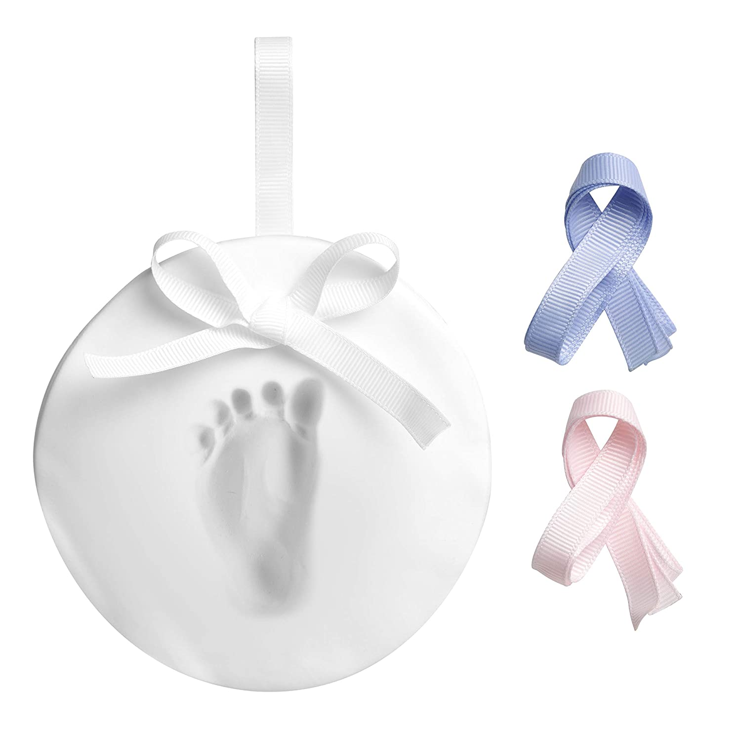 Pearhead New and Improved Babyprints Baby Handprint or Footprint Keepsake Ornament - Makes A Perfect Holiday Gift, Holiday 50010