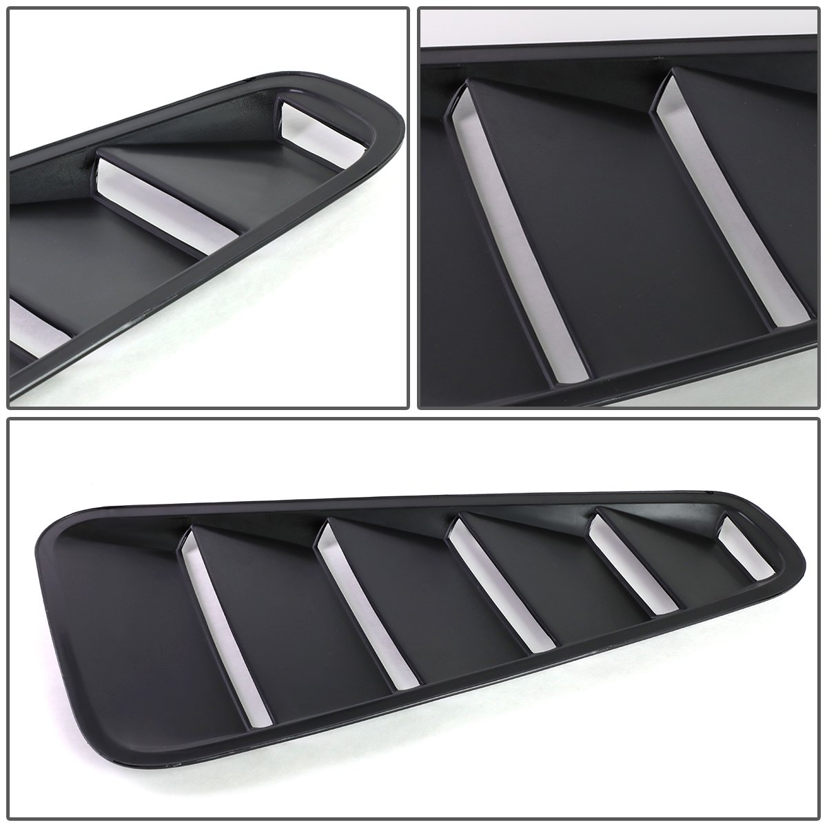 for 05-14 Ford Mustang Coupe DNA MOTORING GRF-037-BK Black Side Vent Quarter Window Louver