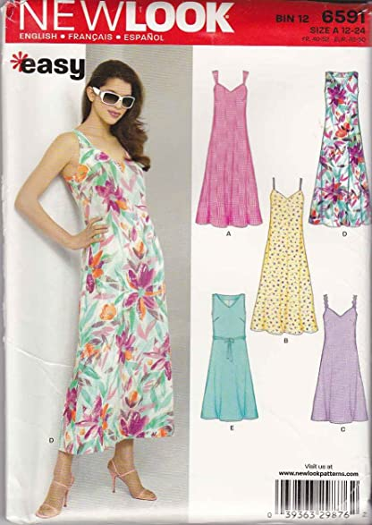 Amazon.com: New Look Sewing Pattern 6591 Misses Size 12-24 Easy ...
