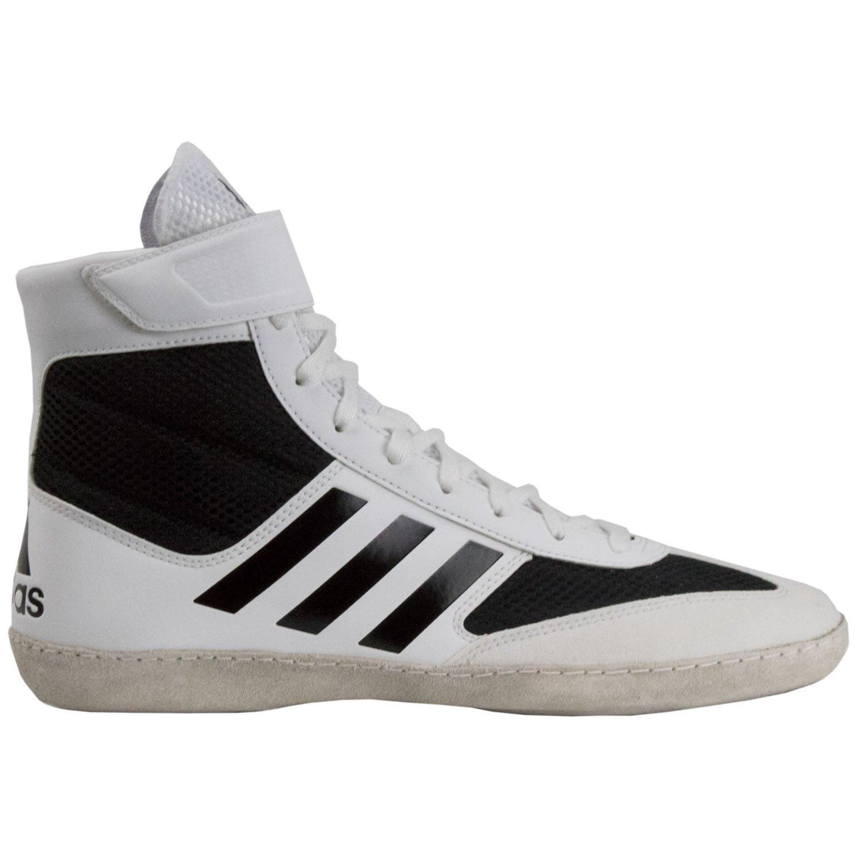 adidas Combat Speed 5 Men's Wrestling Shoes, White/Black, Size 4.5