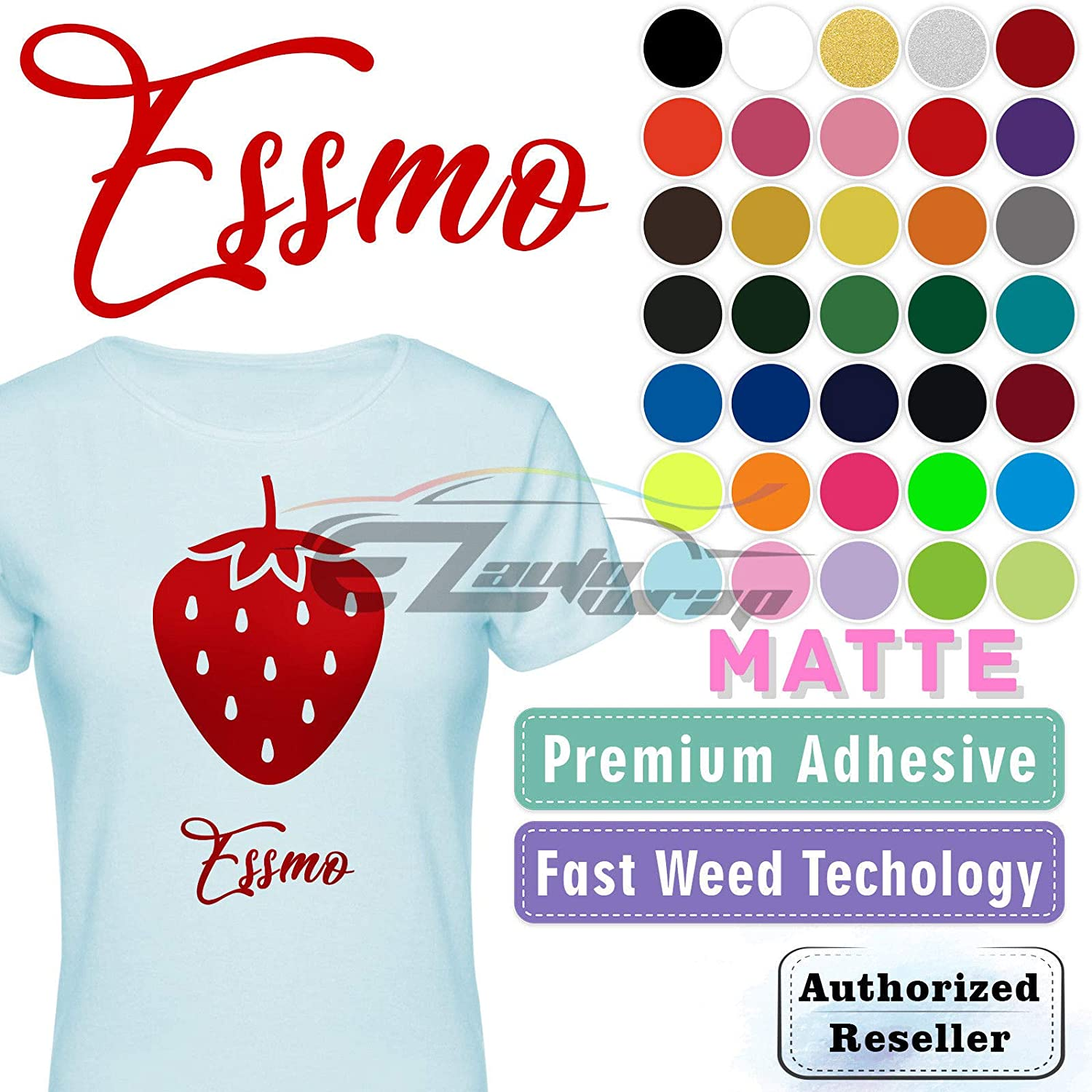 ESSMO Lemon Yellow Matte Solid Heat Transfer Vinyl HTV Sheet T-Shirt 20 Wide Iron On Heat Press Best HTV for Silhouette Cameo and Cricut 20x12