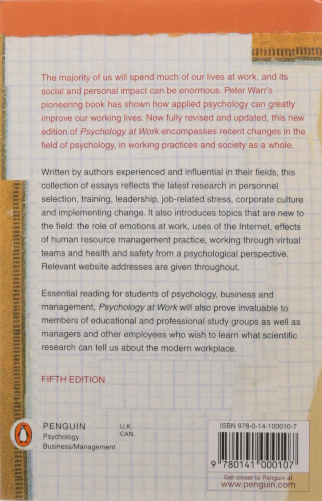 psychology at work amazon co uk peter warr books