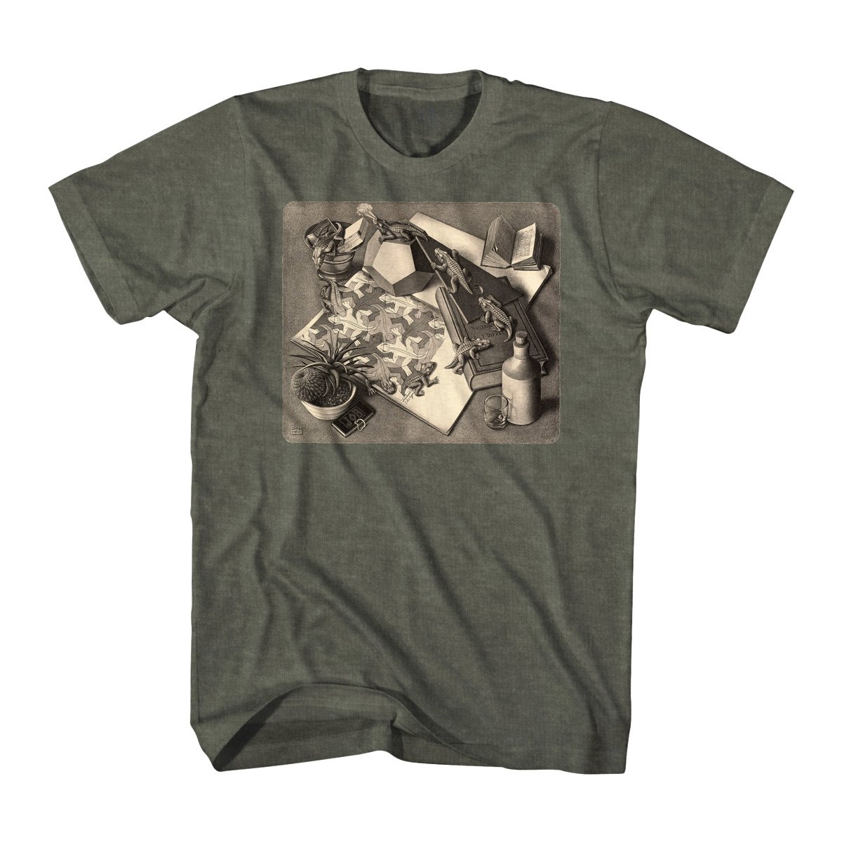 Es En's Es Reptiles Graphic, Heather Ilitary Shirts