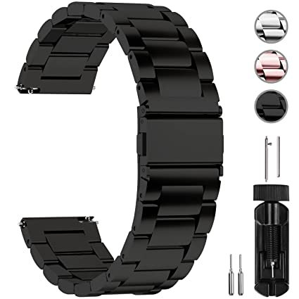 Realistic Premium Stainless Steel Watchband For Samsung Gear S3 Classic Frontier Smart Watch Band Wrist Strap Link Bracelet Silver Black With The Best Service Watch Accessories Watchbands