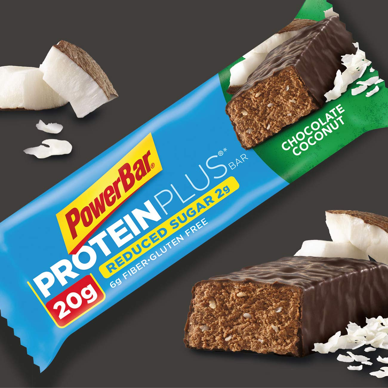Amazon.com: PowerBar Protein Plus Reduced Sugar Bar, Chocolate ...