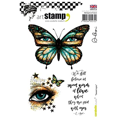 Amazon com: Carabelle Studio Cling Stamp A6 - Sweet Eyes: Arts
