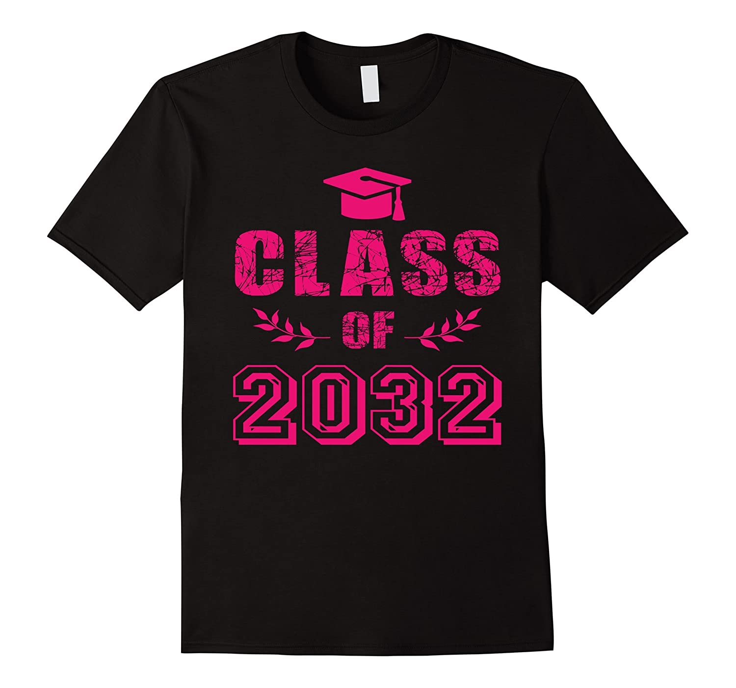 Class of 2032 Grow With Me T-Shirt Pink Girl Kindergarten-CL