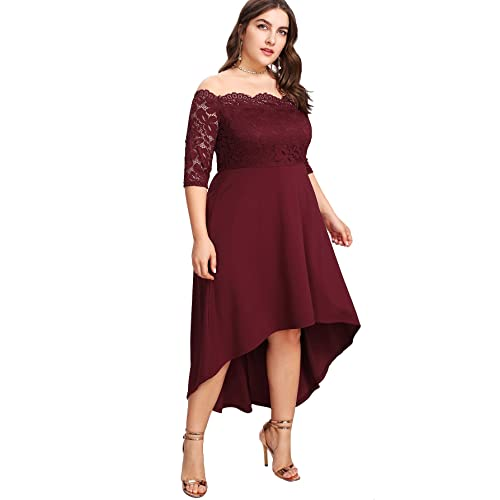 Burgundy Plus Size Dresses: Amazon.com