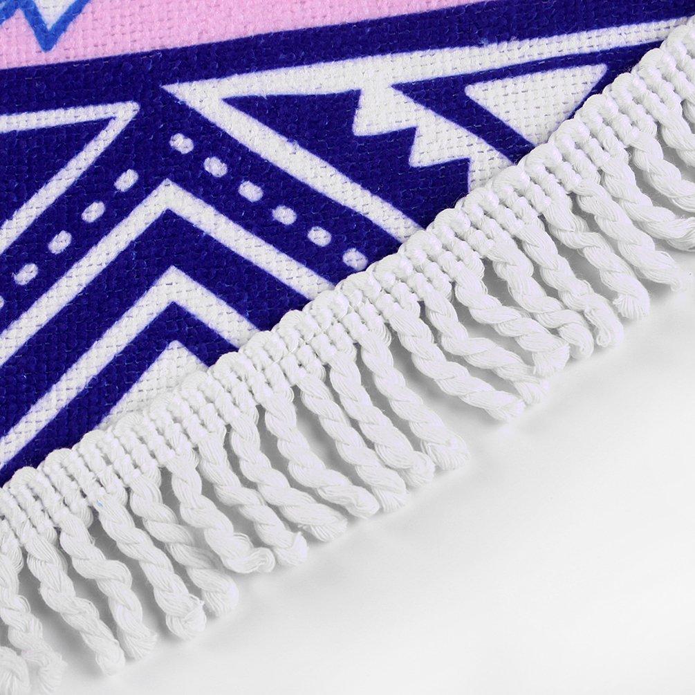 Arce & Home Custom de Bohemia patrón redondo toalla de playa deportes al aire libre manta de viaje - vinculado moda de grosor Mandala manta de Picnic manta ...