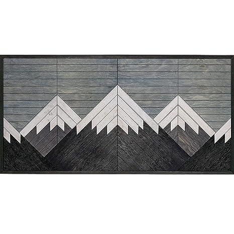 Other Furniture Blanca Peak Mountain Wall Art Reclaimed Wood Panel Wall Art