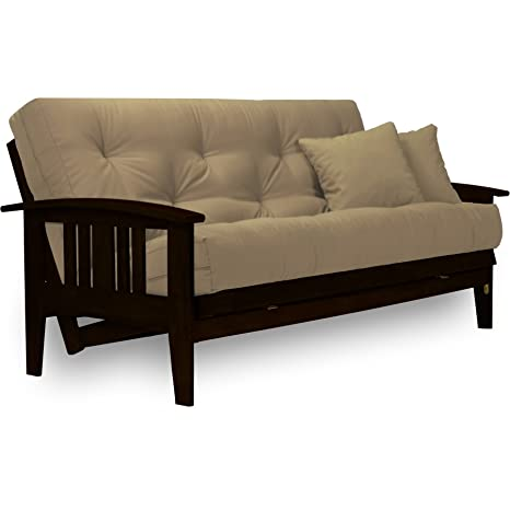 Superb Westfield Complete Futon Set Espresso Finish Warm Black Large Queen Size Mission Style Wood Futon Frame With Mattress Included Pet Friendly Ibusinesslaw Wood Chair Design Ideas Ibusinesslaworg