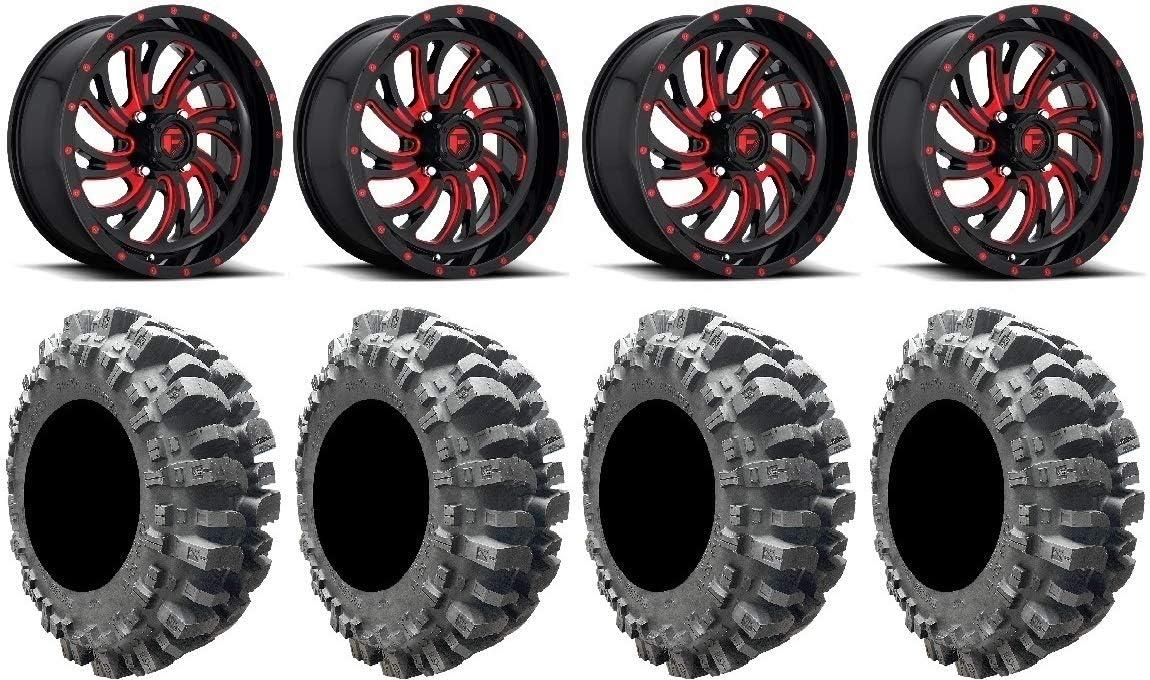 Fuel Kompressor Red 20 Wheels 35 Bogger Tires 9 Items 4x137 Bolt Pattern 10mmx1.25 Lug Kit Bundle