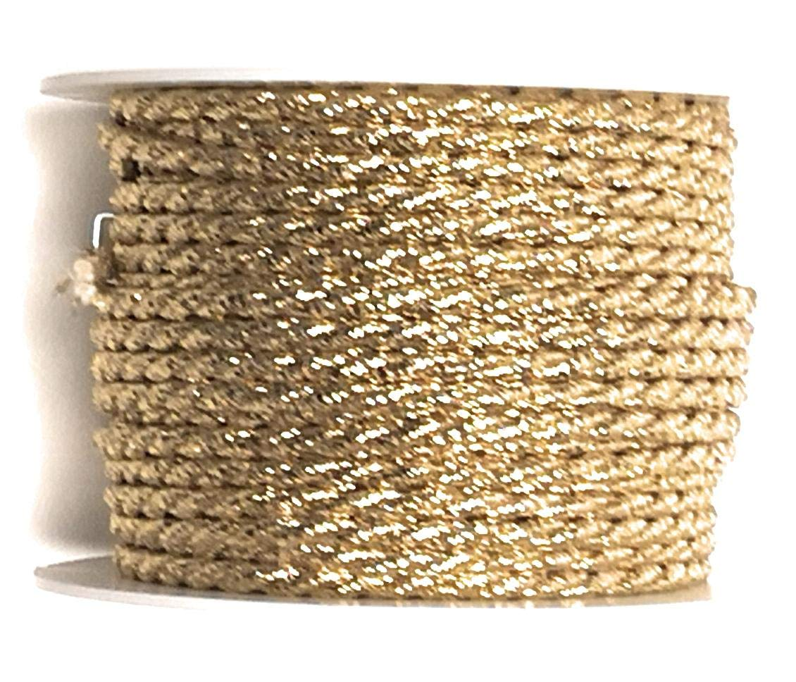 Cordino 15/m X 4/mm Gold cordino decorativo nastro fiocco Pull