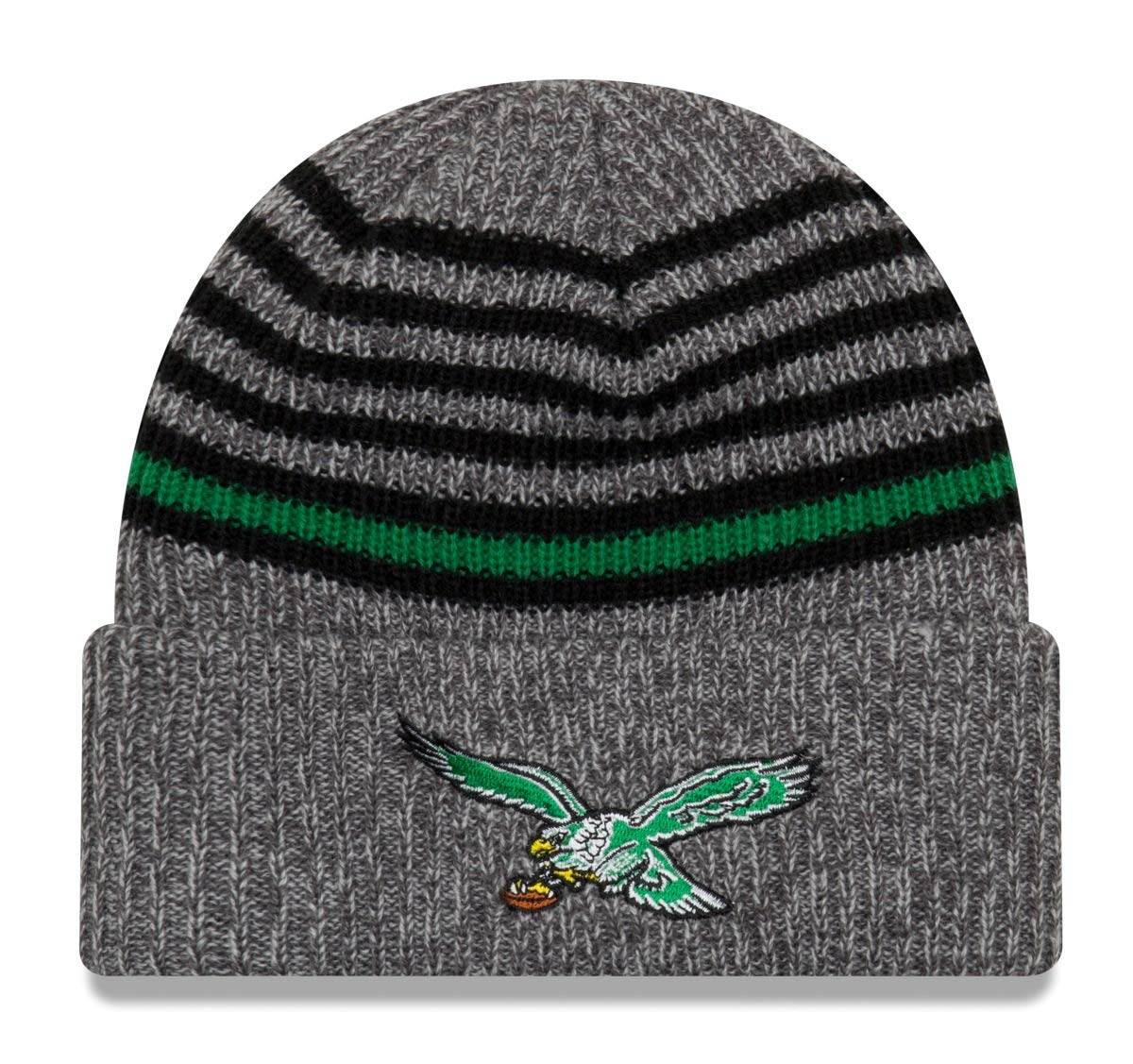 dd1b2eeaa Amazon.com   New Era Philadelphia Eagles Throwback Stripe Strong Cuffed Knit  Hat Cap   Sports   Outdoors