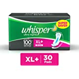 Whisper Ultra Overnight Sanitary Pads XL Plus wings (30 Count)