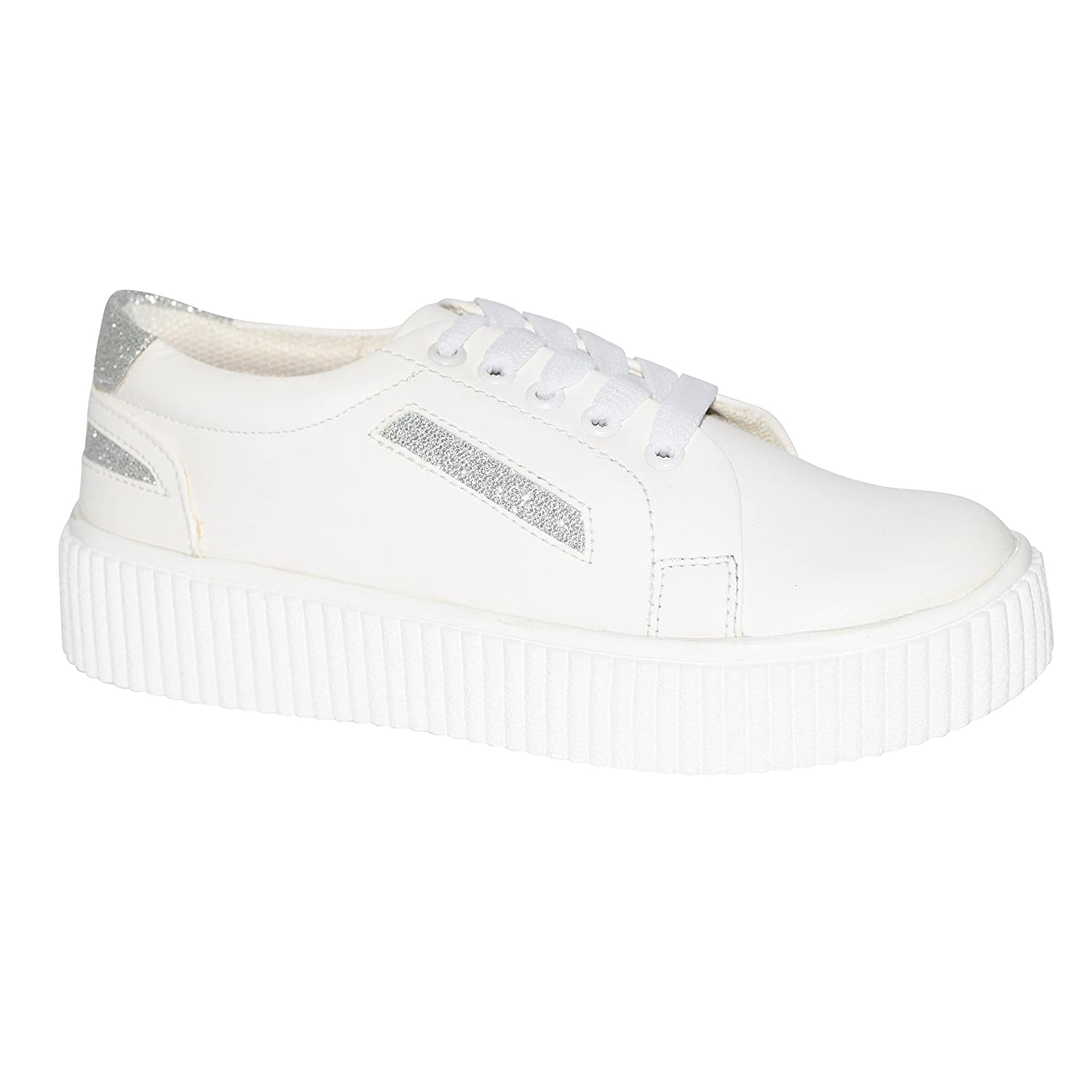 534dec38e Trendy Look Women's White Synthetic Casual Sneakers-8: Buy Online at Low  Prices in India - Amazon.in