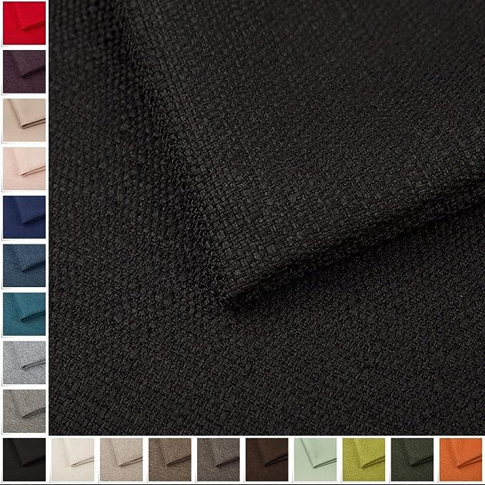 Pure Textilien Portland Woven Fabric Upholstery Fabric Plain Sold by the Metre Black 100: Amazon.de: Küche & Haushalt