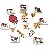 GICO 8 Knobelspiele Holzpuzzle Geduldspiele im Set, einzeln verpackt mit Lösungsheft - als Geschenk oder für den Adventskalender