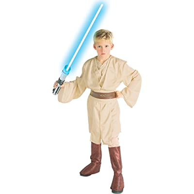 Rubie's Deluxe Child Star Wars Obi-Wan Costume - Large: Clothing