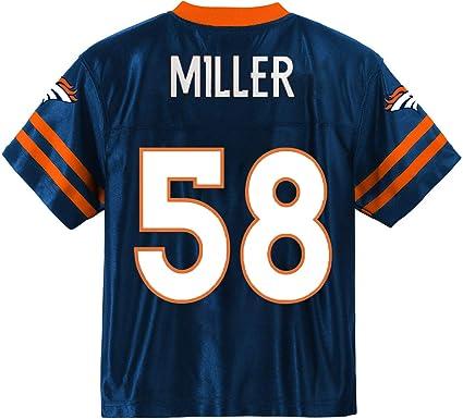 OuterStuff Von Miller Denver Broncos #58 Navy Blue Youth Alternate Player Jersey