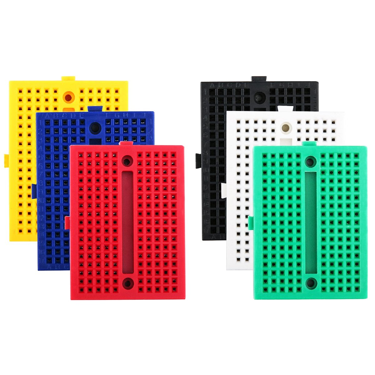 Electrely 6pcs 170 Tie Points Mini Breadboard Kit Experiment Solderless Breadboards Provide A Way Of Creating Circuit Without Board Self Adhesive
