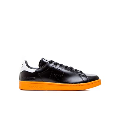 detailed look c4fa9 30f01 adidas Men s RAF Simons Stan Smith Black White Bright Orange BB2647 (Size