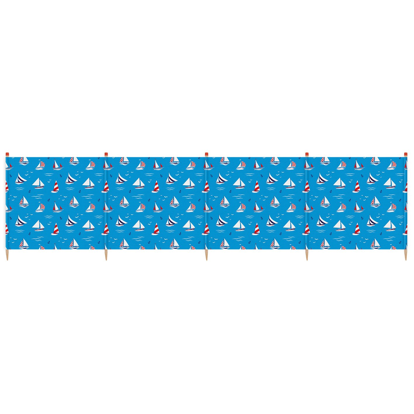 Yello Unisex Hoch Deluxe SegelStiefel 5 Pole Windschutz, blau