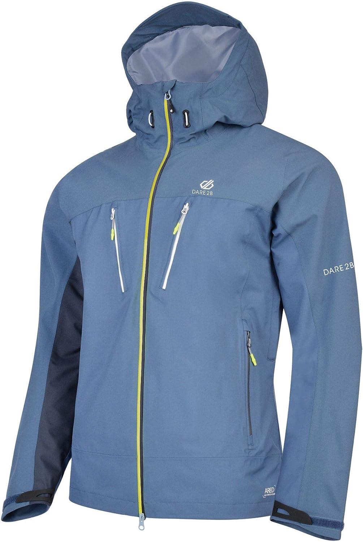 Dare 2b Herren Resolute Waterproof and Breathable Ventilated Hooded Hiking Shell Jacke