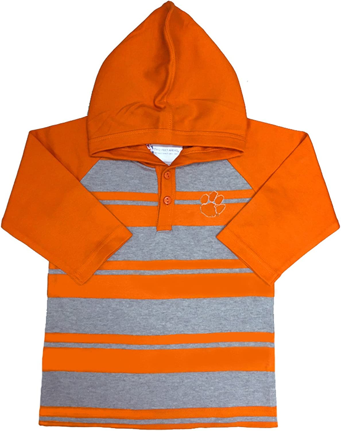 4T Two Feet Ahead NCAA Oklahoma State Cowboys Toddler Rugby Long Sleeve Hooded Shirt