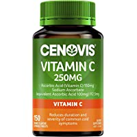 Cenovis Vitamin C 250mg - Chewable tablets - Reduces duration and severity of common cold symptoms, 150 Tablets