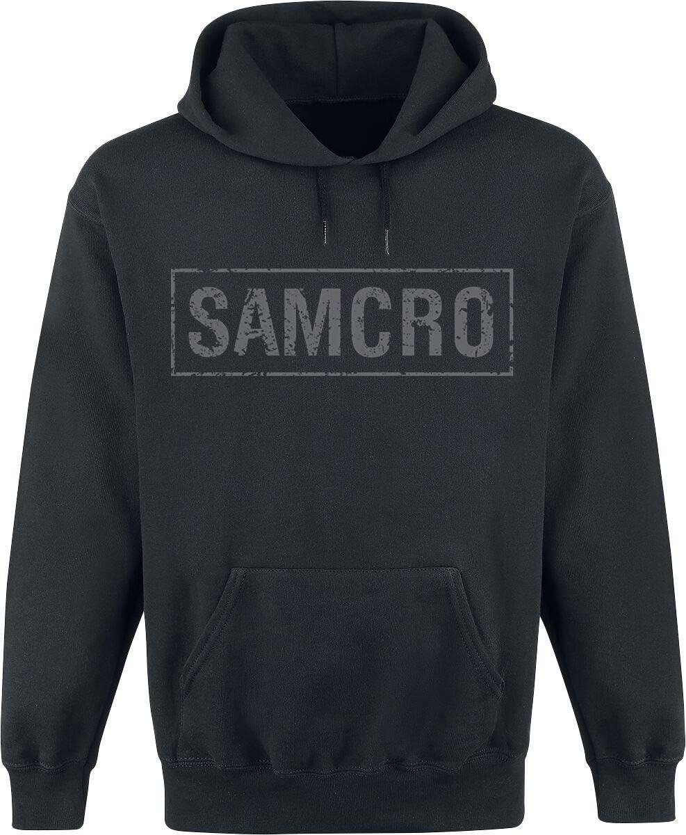 Sons of Anarchy Samcro - logo hoodie zwart
