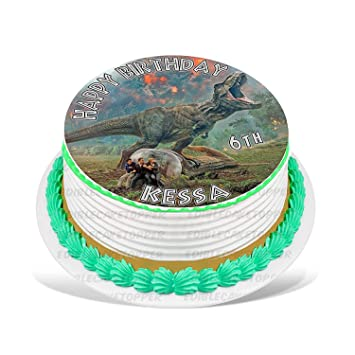 Jurassic Park Fallen Kingdom Edible Cake Topper Personalized