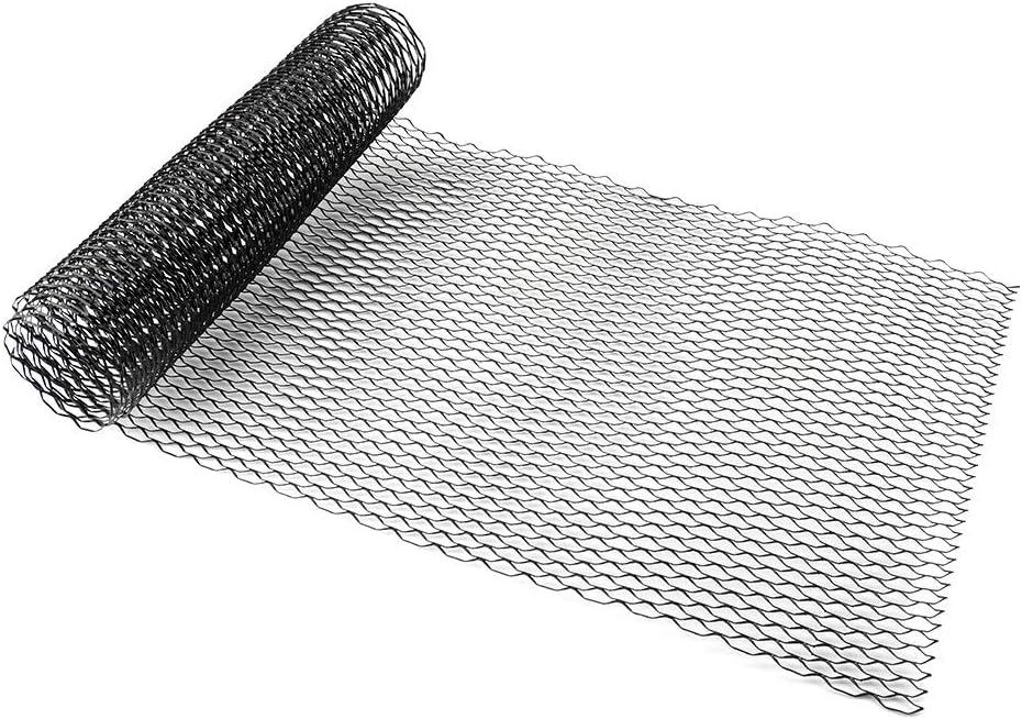 Yctze Car Body Grill 8x25mm en alliage daluminium Car Grille Mesh Net Grid Body Bumper Seagull Shape Grill Universal