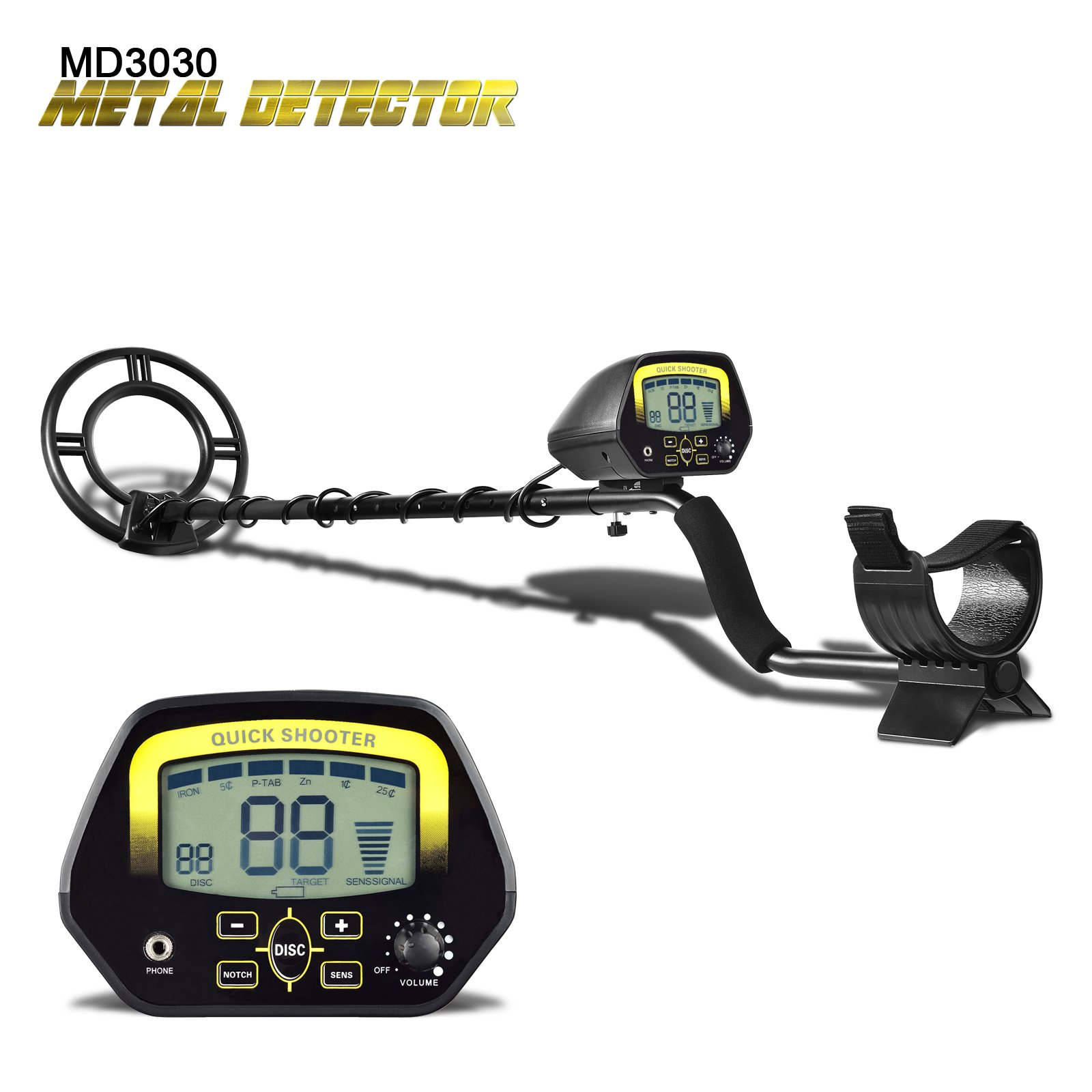 SHUOGOU Metal Detector MD3030- Lightweight Professional Detectors Underground Treasure Hunter LCD Display Gold and Jewelry Hunting Under Shallow Water by SHUOGOU