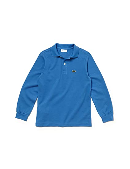 ad1791d2f Lacoste Boys Kid's Cotton Longsleeve Polo Blue in Size 4 Years (104 ...