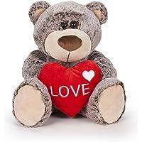 Famosa Softies - Oso San Valentin, color marrón, 37 cm (760016118)