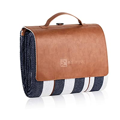 B.L Picnic KSM-P01MN mat Picnic Blanket, Blue Portable : Garden & Outdoor